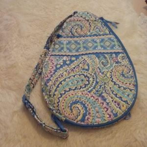 Blue Vera Bradley Sling Tennis Racket Carrier Bag